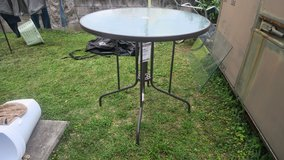 PATIO GLASS TABLE NEW NEVER USED 3' H in Okinawa, Japan