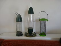 3 bird feeders in Lakenheath, UK