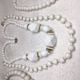 Necklace Lot 4 White Necklaces Vintage 50s Variety of Styles in Kingwood, Texas