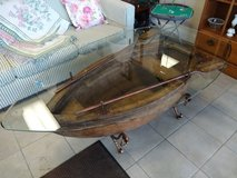 Nautical boat glass top coffee table in Chicago, Illinois