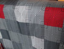 Minecraft Teen Curtains America Bordered Geometric Red, Black Gray in Clarksville, Tennessee