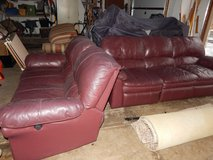 Leather Reclining Sofa & Loveseat in Chicago, Illinois