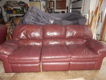 Leather Reclining Sofa in Chicago, Illinois