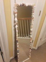 """49"""" tall x 13"""" wide shell trimmed mirror in non smoking home in Chicago, Illinois"""