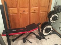 Weight bench with weight set in Chicago, Illinois