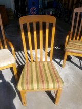 6 dining chairs and table in Chicago, Illinois