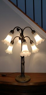 Dale Tiffany Lily 6 Light Table Lamp in Antique Brass in Aurora, Illinois