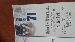Chicago Cubs at Milwaukee Brewers 2 aisle tickets Fri night 7/26 Row 5 in Plainfield, Illinois