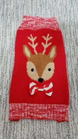 Small Red Reindeer Pet Sweater in Plainfield, Illinois