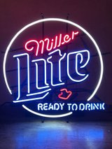 Miller Lite Neon Beer Sign in Bolingbrook, Illinois