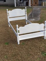 antique chalk painted twin bed in Cherry Point, North Carolina