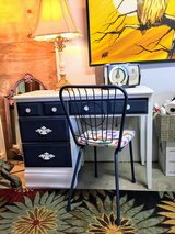 antique chalk painted desk with chair in Cherry Point, North Carolina