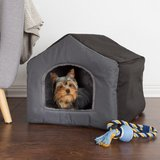 Small Gray Polyester Cozy Cottage House Shaped Pet Bed in Oswego, Illinois