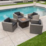 Venice 4 piece Wicker Patio Club Chair Chat Set in Houston, Texas