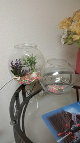 2 Fish Bowls -Gently used in Travis AFB, California