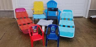Outdoor Lawn/Beach Lounge Chair Lot in Camp Lejeune, North Carolina