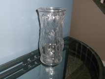 Feather etched clear glass vase in Plainfield, Illinois