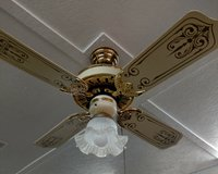 Casablanca ceiling fan with light in Chicago, Illinois