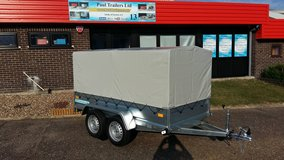Camping Trailer Twin Axle 8,6ft x 4,4ft ( 2,63m x 1,33m ) 750kg gross inlc Canvas Cover in Lakenheath, UK