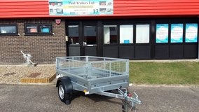 Brand New Camping Trailer, Garden Trailer Single Axle 6,8ft x 3,8ft 750kg Caged in Lakenheath, UK