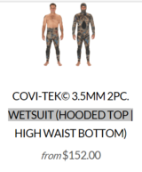 riffe wetsuit ( read the add ) in Okinawa, Japan
