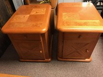 Two solid wood end tables in Naperville, Illinois