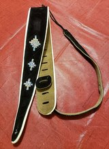 BLACK SUEDE GUITAR STRAP WITH DECOR in Fort Campbell, Kentucky