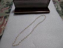 """VINTAGE STRAND FRESH WATER PEARLS 14K GOLD CLASP NECKLACE 17"""" in Cleveland, Texas"""