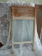 Washboard, antique, glass & wood in 29 Palms, California