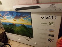 "VIZIO 65 "" D-series 4K HDR smart tv,  with VIZIO 36"" 2.1 SOUNDBAR in Leesville, Louisiana"