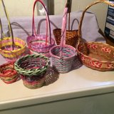 25 Easter Baskets with eggs and grass in Naperville, Illinois