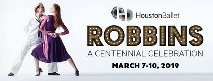 """(2/4) """"ROBBINS"""" Ballet 6th Row/Lower Level/Center Tix - BELOW COST - Sun, March 10! in Baytown, Texas"""
