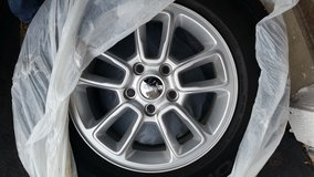 """Set of 4 / 17"""" Jeep Grand Cherokee wheels and tires like new/ used only 3,400 miles. reduced price in Oswego, Illinois"""