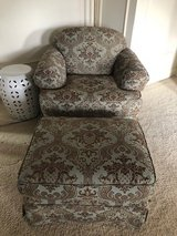 French Style Arm Chair and Ottoman in Glendale Heights, Illinois