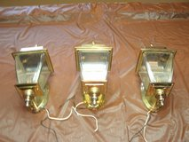 3 Matching Brass Carriage Lamps in Orland Park, Illinois
