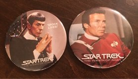 Vintage Wrath of Khan Pins in Yorkville, Illinois