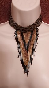 Beaded woven necklace and matching bracelet. in Spring, Texas