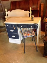 solid maple chalk painted desk with chair in Cherry Point, North Carolina