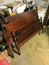 antique queen size bed with rails in Camp Lejeune, North Carolina