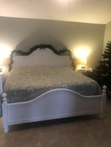King size bed frame and mattress set in Baytown, Texas