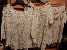 Three crochet/lace tops size M in Fort Bragg, North Carolina