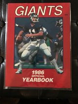 1986 NY Giants Yearbook in Camp Lejeune, North Carolina