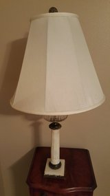 ANTIQUE FRENCH EMPIRE ORIGINAL OIL STYLE LAMP WITH HEAVY MARBLE BASE. in Kingwood, Texas