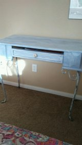 Shabby chic purple desk in 29 Palms, California