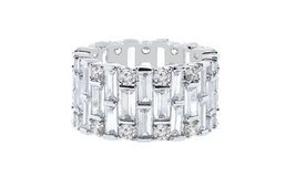 CLEARANCE ***BRAND NEW***Baguette Swarovski Crystals Eternity Ring: 9*** in The Woodlands, Texas