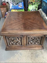 VINTAGE Baroque uniquely modern style end table with large storage behind magnetic closing doors... in Naperville, Illinois