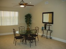 Dining Table - glass top with 4 chairs in Yucca Valley, California