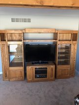 Solid Oak Entertainment Cabinet in Aurora, Illinois