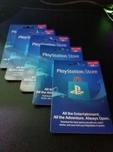 Playstation Store Gift Card - Unscratched (worth $25 each) in Bolingbrook, Illinois