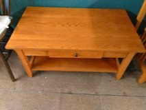 Wood Coffee Table with Drawer in Leesville, Louisiana